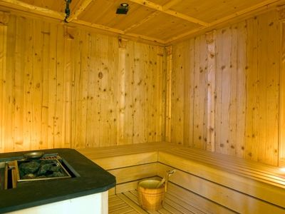 Sauna in our wellness area