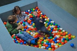Ball pool in our play room