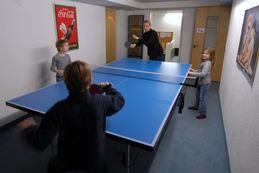 Our table tennis room